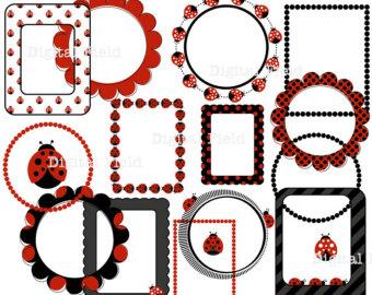 Border printable . Boarder clipart ladybug