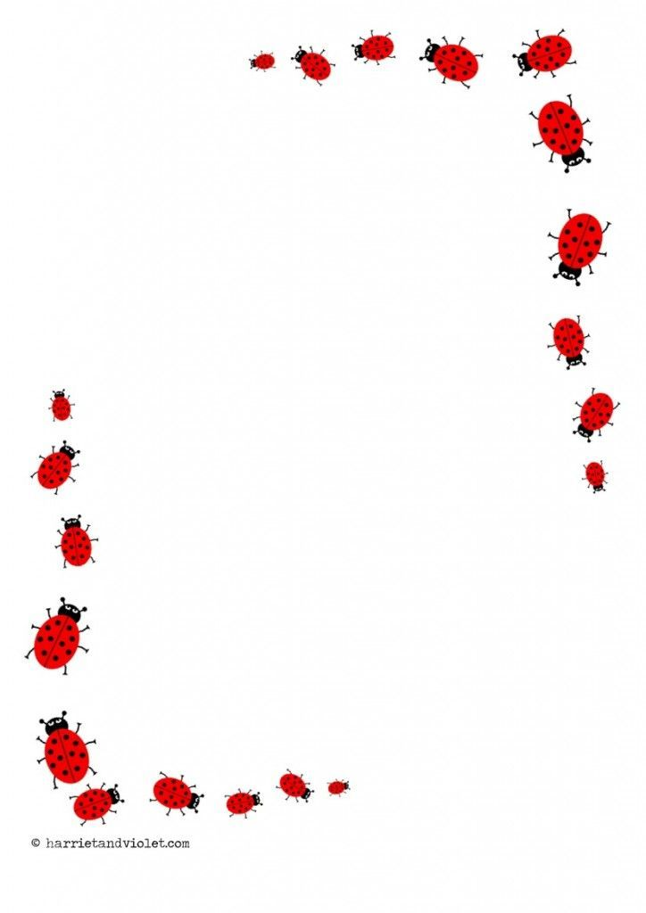 Boarder clipart ladybug. Lady bug border printable