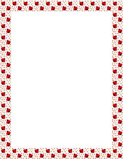 Boarder clipart ladybug. Border borders animals pinterest