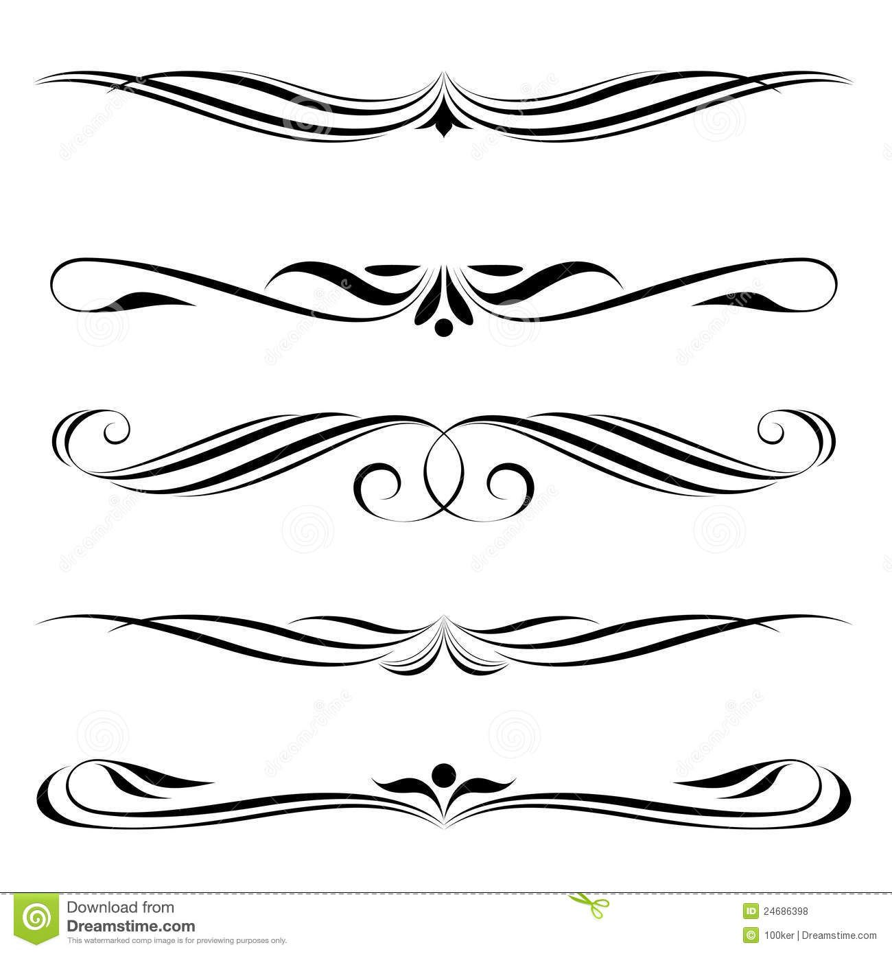 Decorative clipart fancy line.  awesome border handwriting