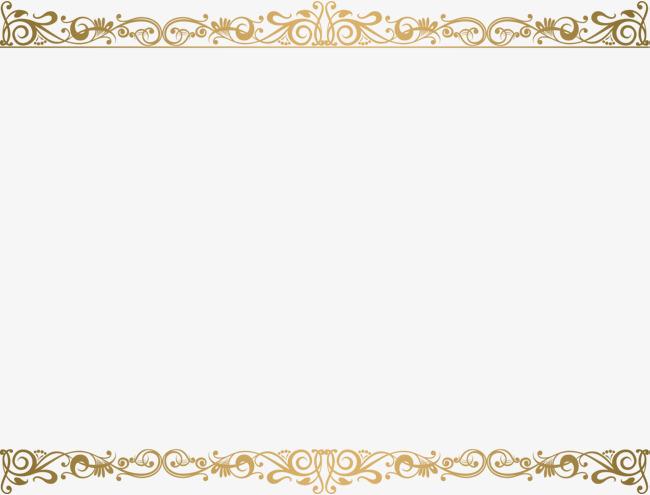 Boarder clipart minimalist. Golden vine frame gold