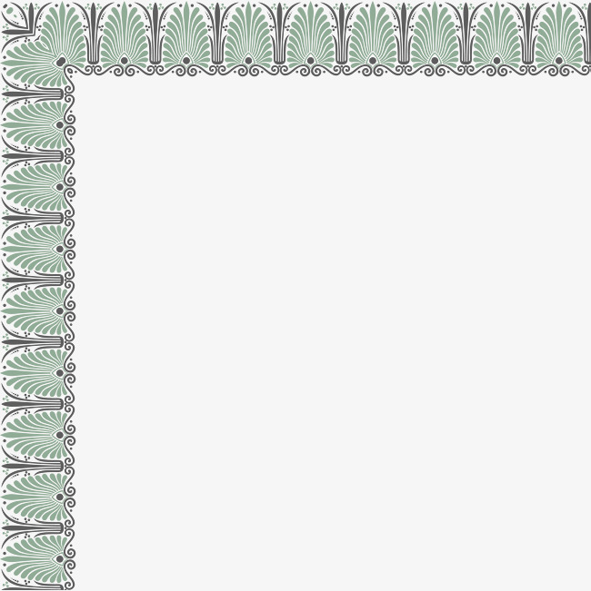 Green borders simple plant. Boarder clipart minimalist