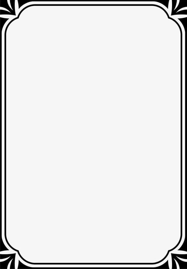 Boarder clipart minimalist. Black framework png backgrounds