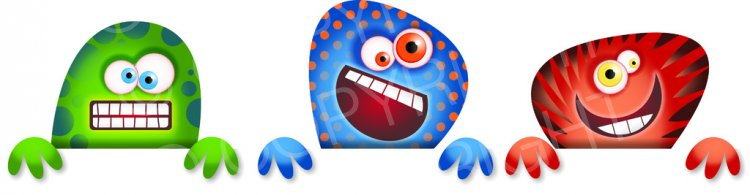Cartoon page border clip. Boarder clipart monster