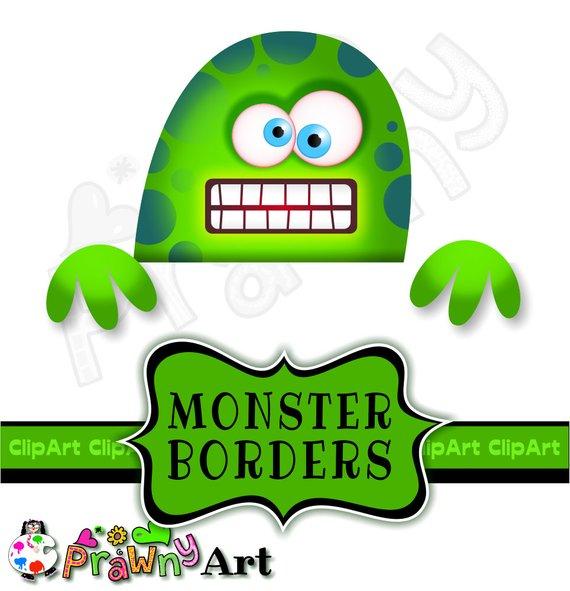 Boarder clipart monster. Cartoon border clip art