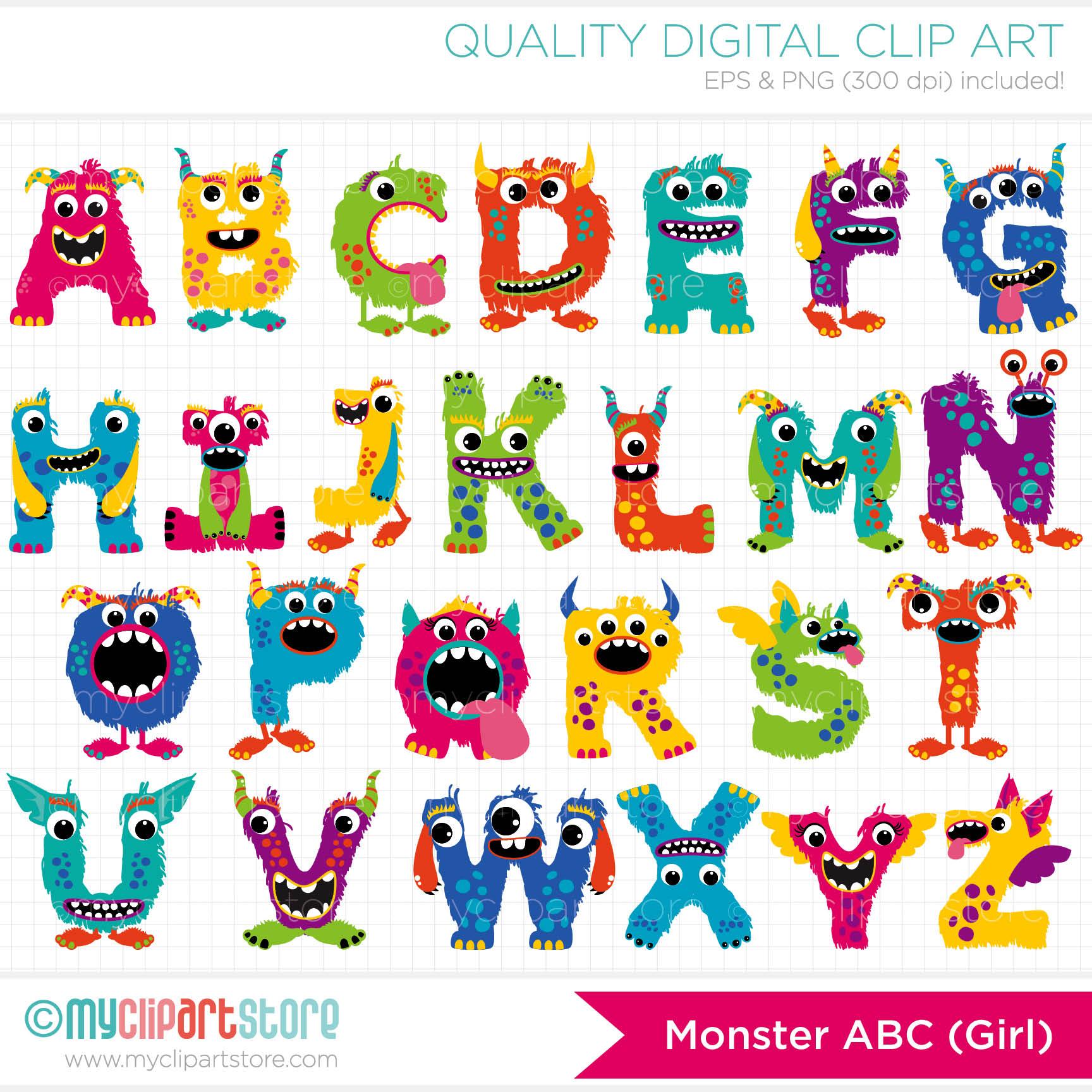 Boarder clipart monster. Alphabet border clip art
