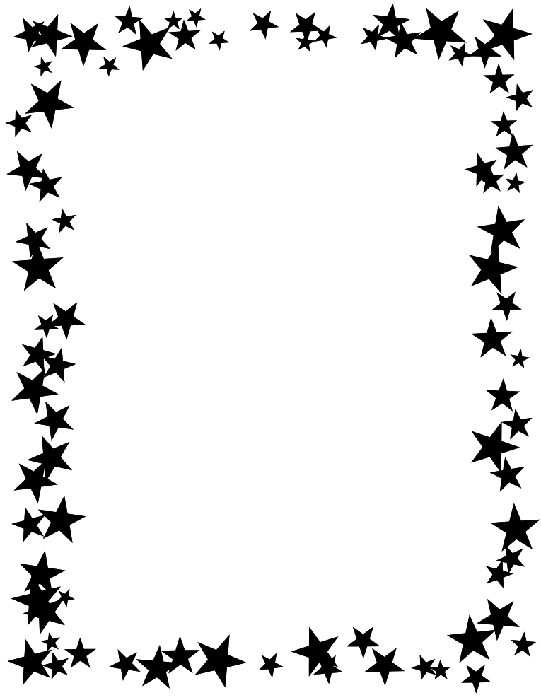 Free printable star border. Boarder clipart outline