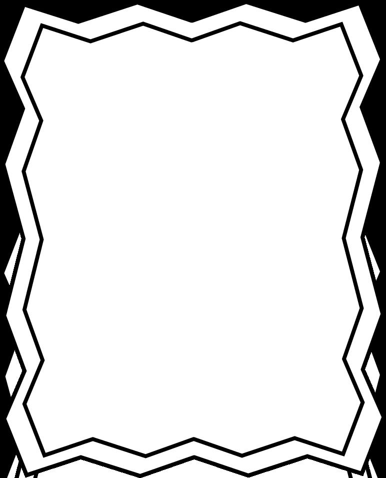 Clip art black and. Frame clipart outline