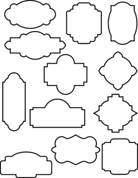 Boarder clipart outline.  decorative frames filled
