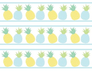 Boarder clipart pineapple. Classroom decor cutouts borders