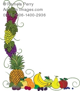 Clip art illustration of. Boarder clipart pineapple