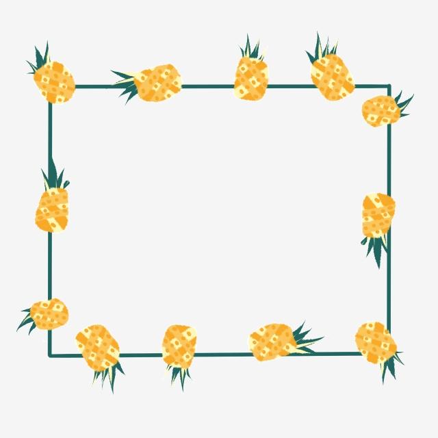 Clipart pineapple borders. Summer fruit border