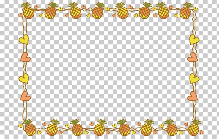 Clipart pineapple borders. Decorative png border branch