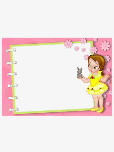 Pink border frame png. Boarder clipart princess