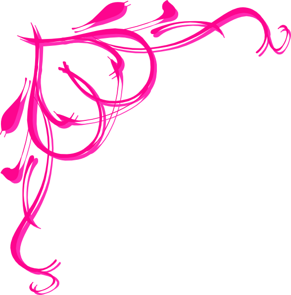 Free clipart banner. Pink heart border clip