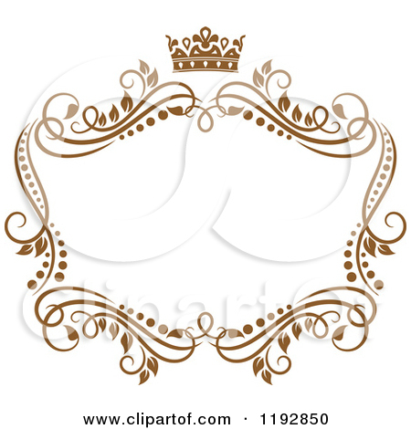 Crown border . Boarder clipart princess