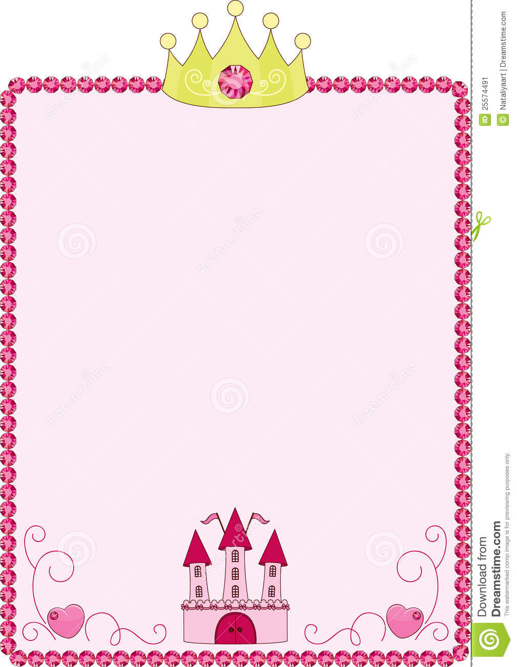 Border pencil and in. Boarder clipart princess