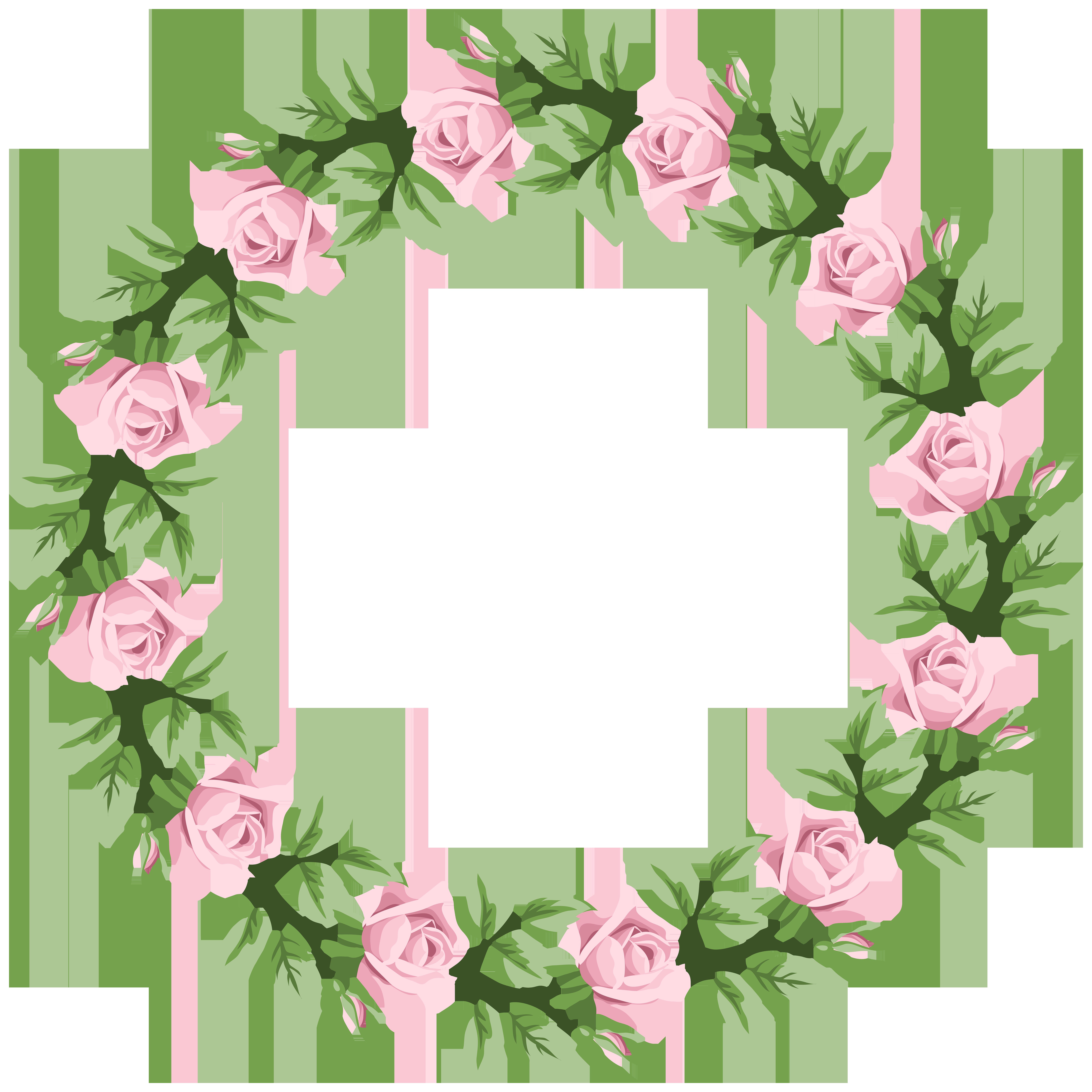 Pink frame transparent clip. Rose border png