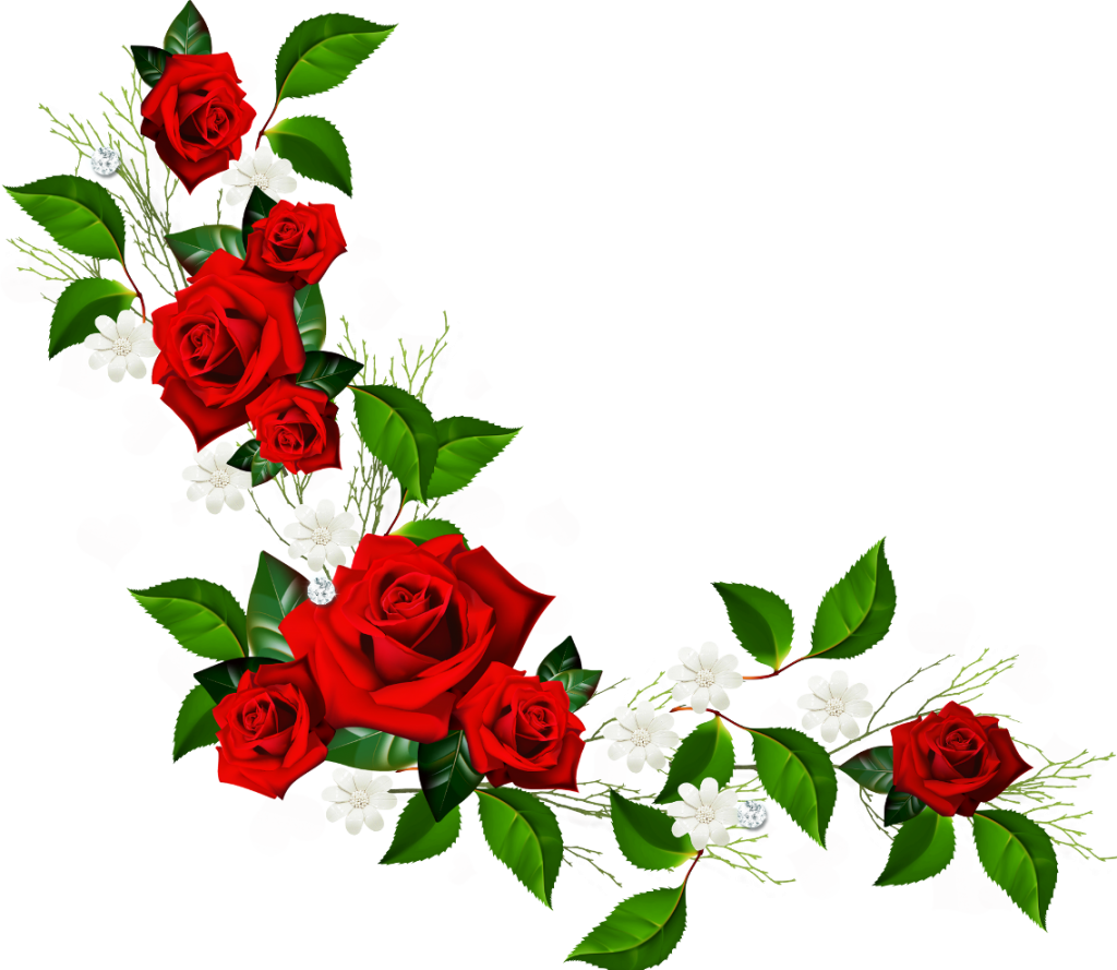 Flowers border png clipartsgram. Boarder clipart rose