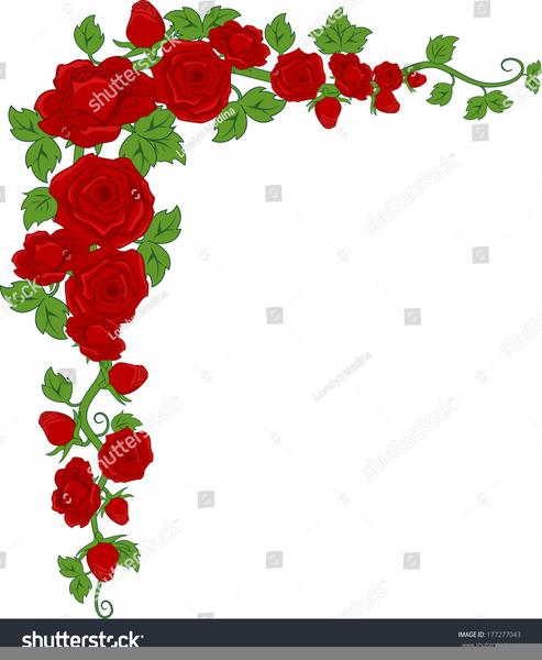 Boarder clipart rose. Corner border free images