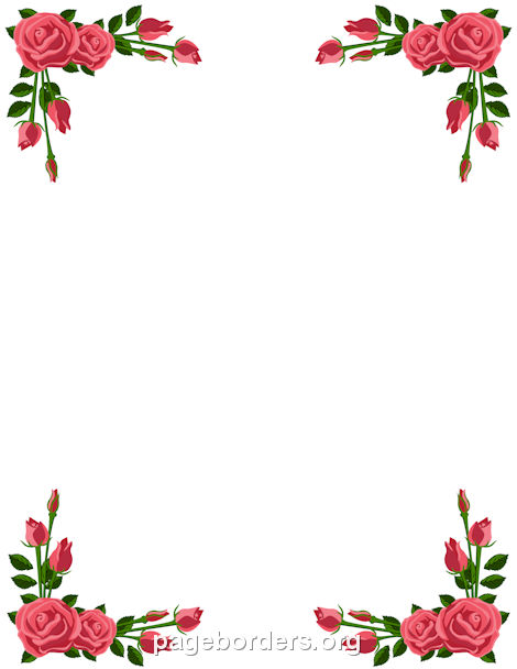 Boarder clipart rose. Pin by muse printables
