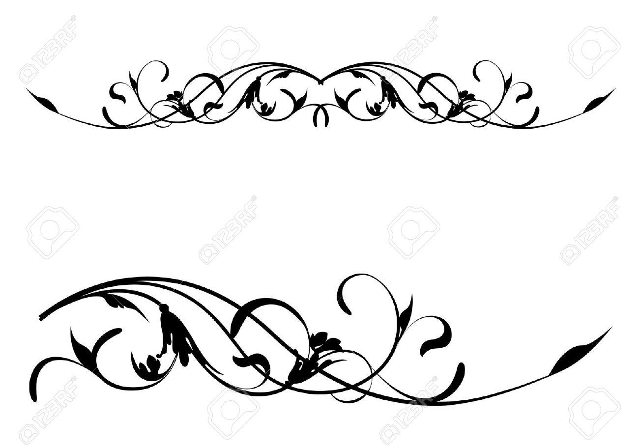 Scroll border cilpart beautiful. Boarder clipart scrollwork