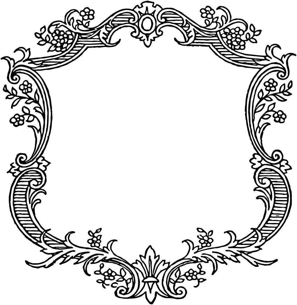 Free vintage floral scroll. Boarder clipart scrollwork