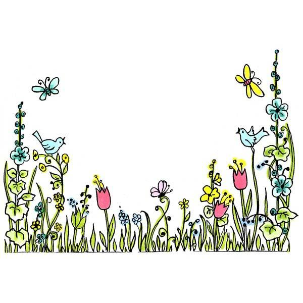 Border clipart spring. Nice coloring pages clip