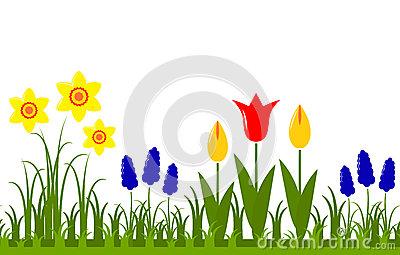 Garden . Border clipart spring