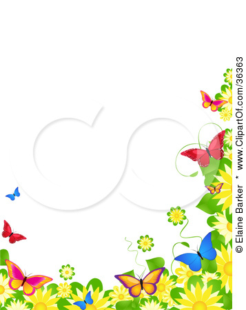 Boarder clipart spring. Butterflies border