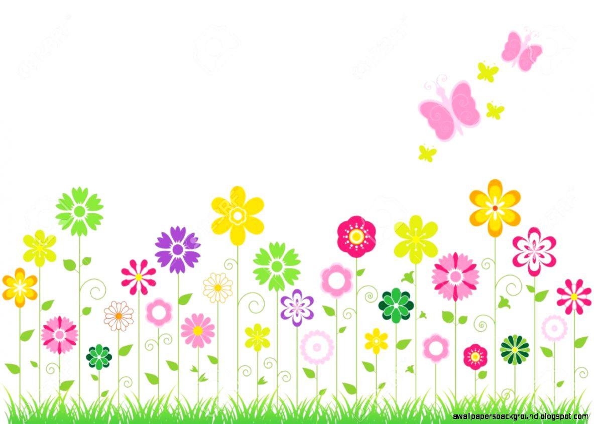 Flower clip art free. Border clipart spring