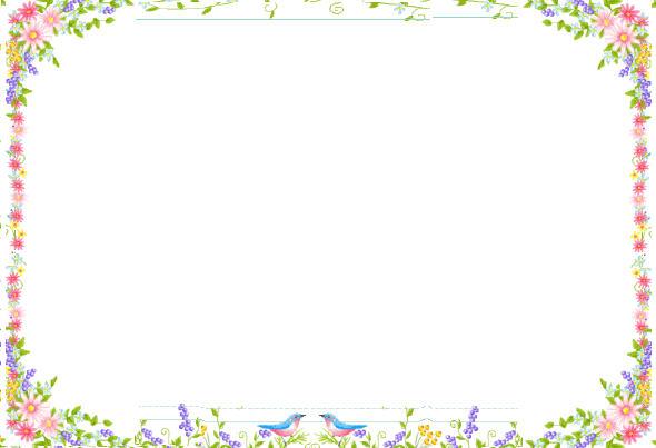 Flower clip art borders. Boarder clipart spring