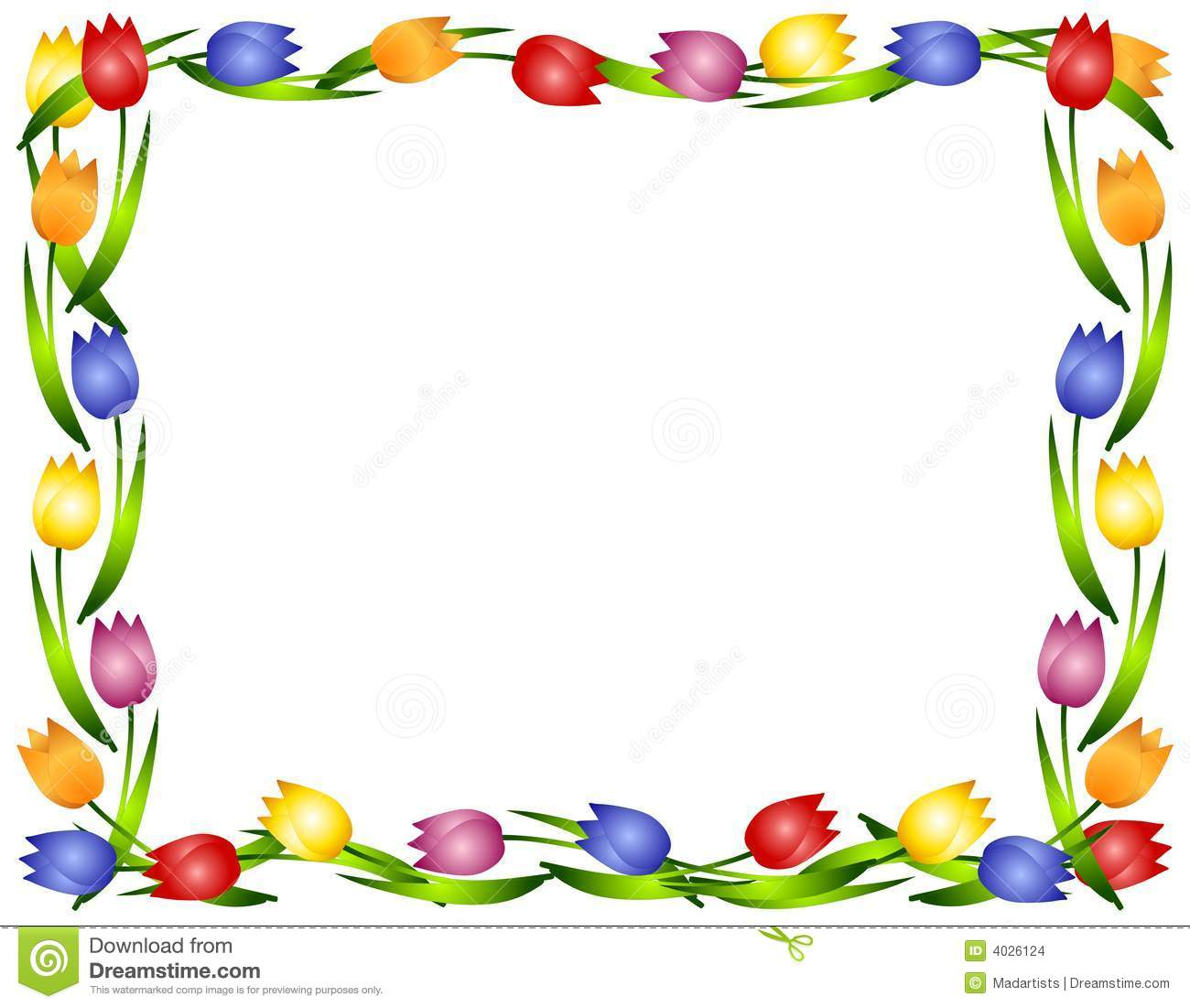 Free flowers borders download. Boarder clipart spring