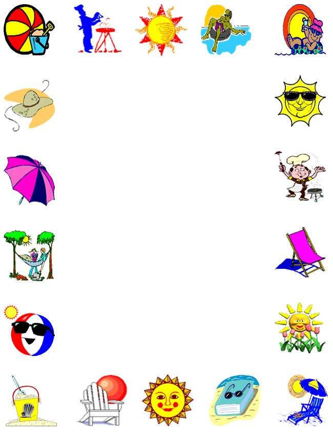 Clip art borders ny. Boarder clipart summer
