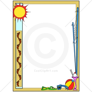Boarder clipart summer. Fun borders