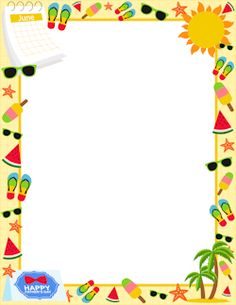 Boarder clipart summer. Border clip art featuring
