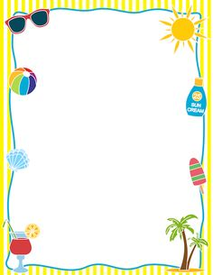 Boarder clipart summer. Holiday border