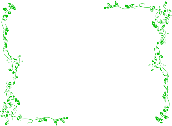 Border green clip art. Boarder clipart vine