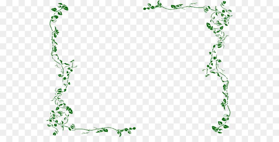 Clip art green border. Boarder clipart vine
