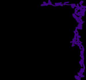 Boarder clipart vine. Border purple clip art