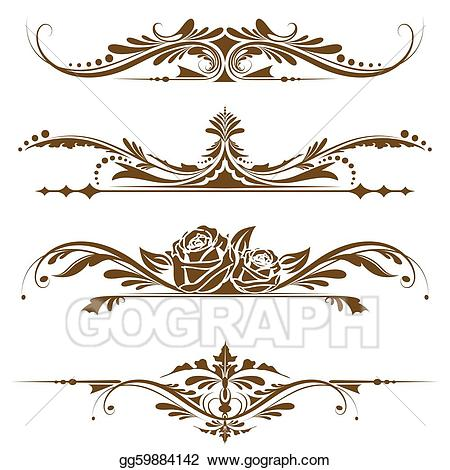 Vector stock page border. Boarder clipart vintage