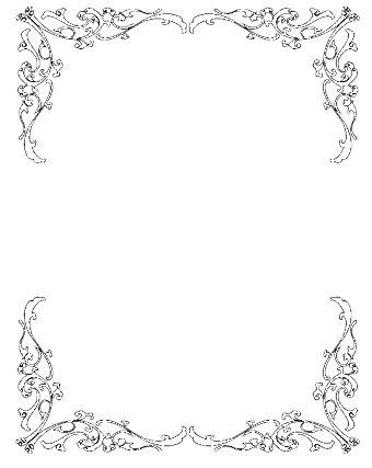 Borders for invitations incep. Boarder clipart wedding