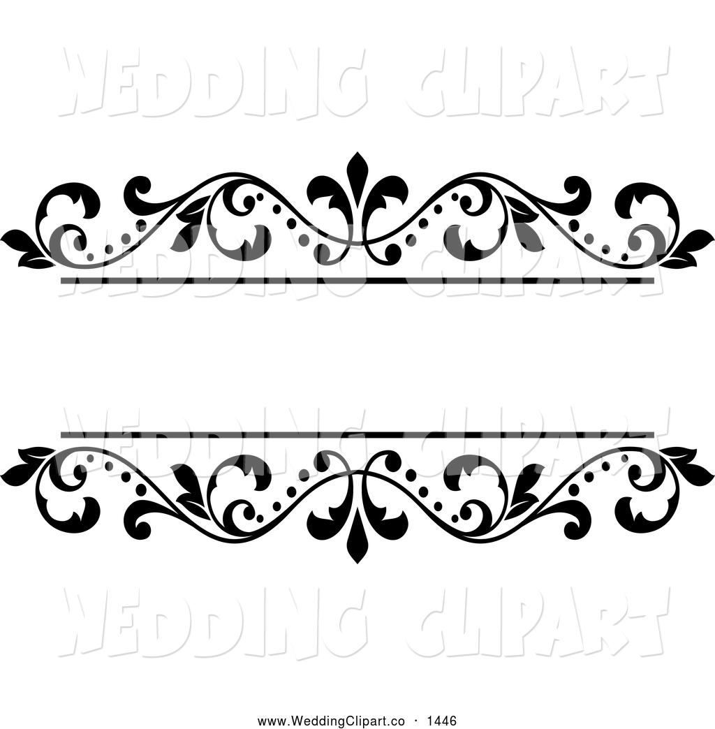 Boarder clipart wedding. Black and white border