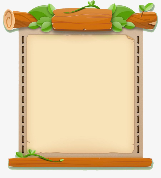 Fresh and cute game. Boarder clipart wood