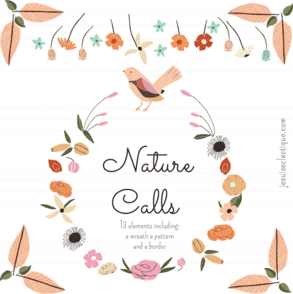 A call from nature. Boarder clipart woodland