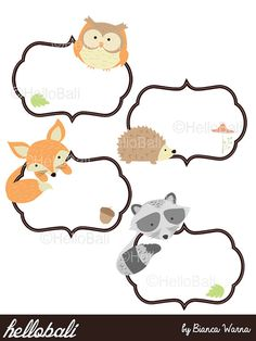 Boarder clipart woodland. Forest animals fox included
