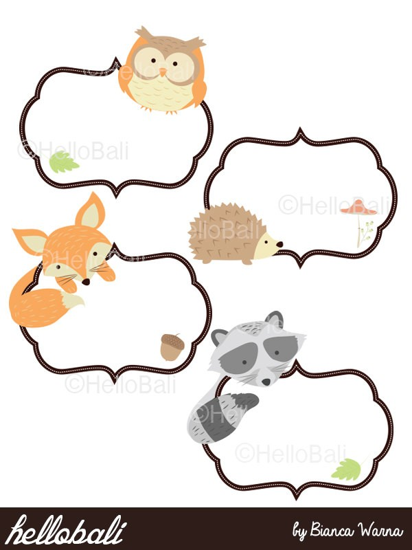 collection of border. Boarder clipart woodland