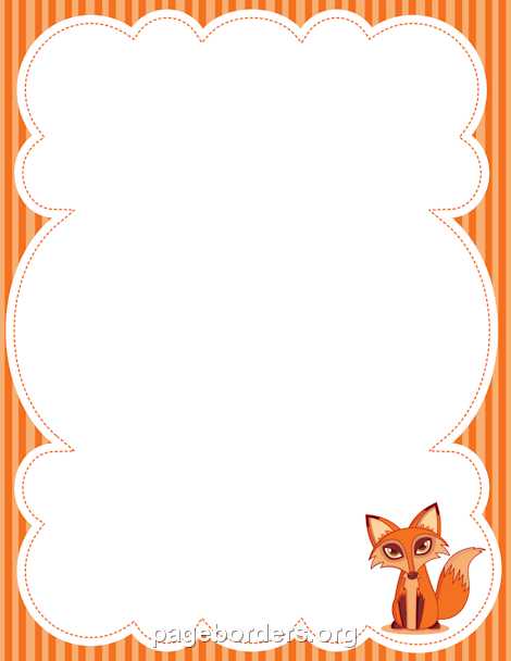 Woodland clipart borders. Fox border frames page