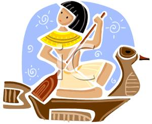 Boat clipart ancient egyptian. A cartoon of an