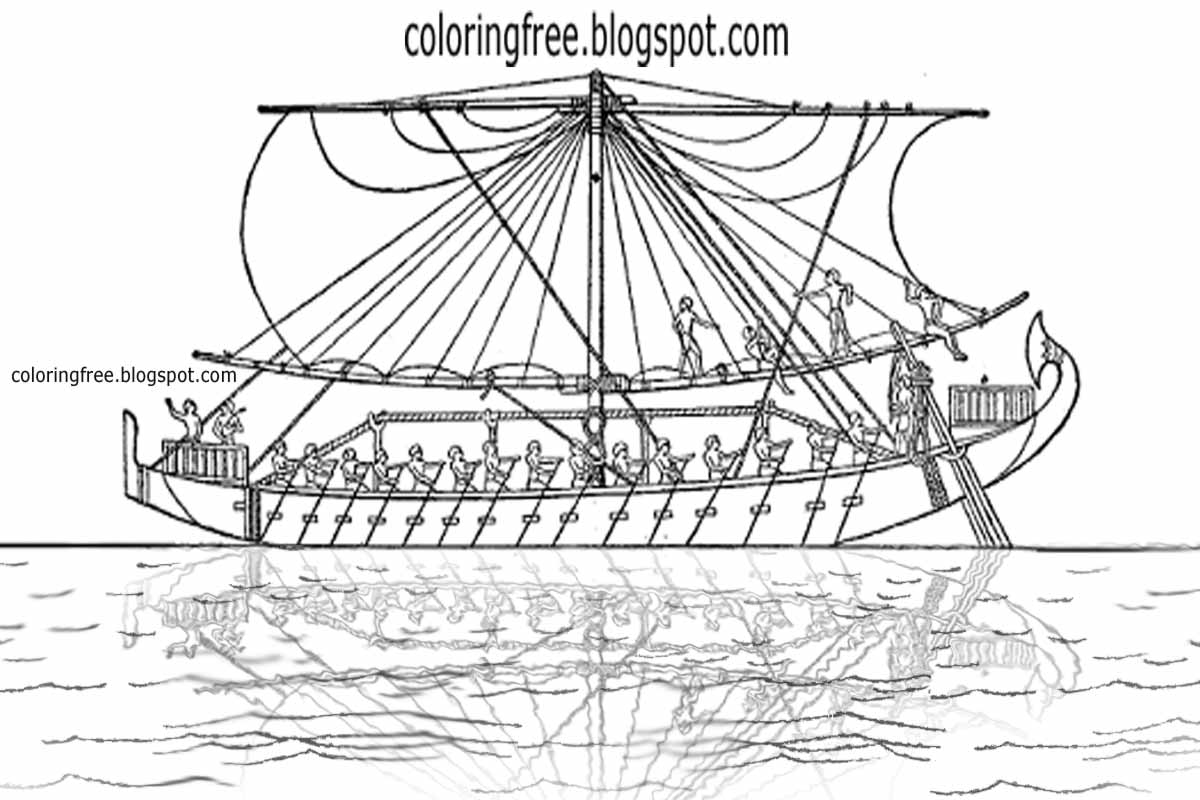 Free coloring pages printable. Boats clipart ancient egyptian